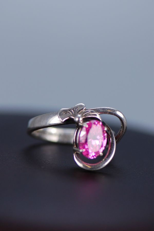 Pink Ice Sterling Silver Ring