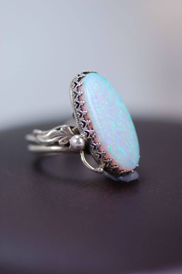 Navajo – Lab Opal and Sterling Silver Ring Size 7