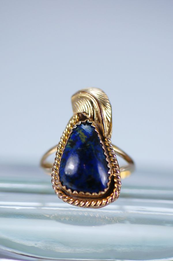 Navajo Ladies 12ktGF Lapis Ring