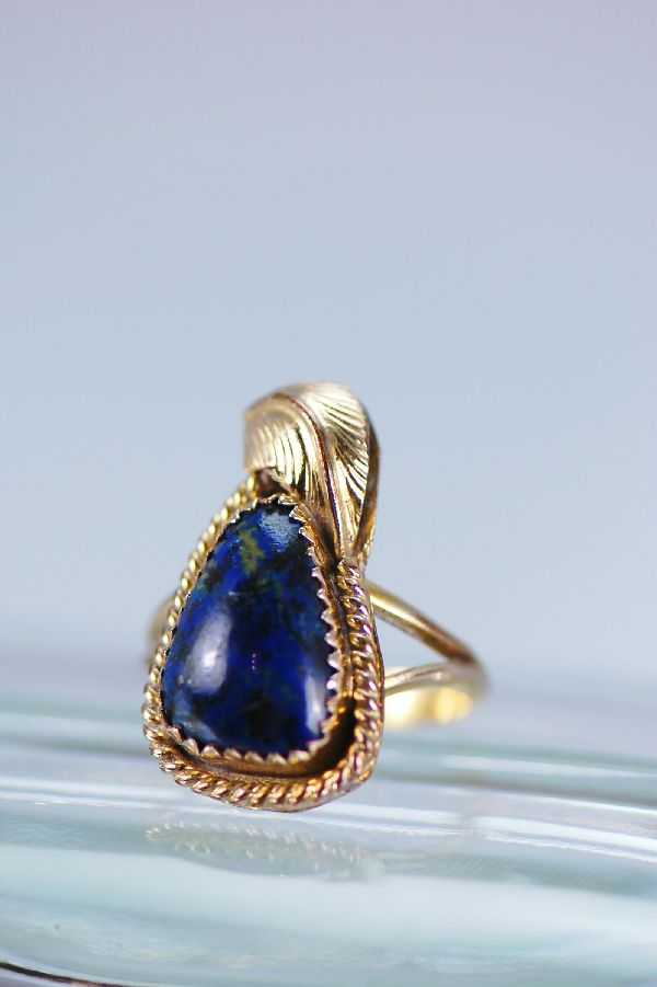 Navajo –Lapis 12ktGF and Sterling Silver Ring Size 6 1/2