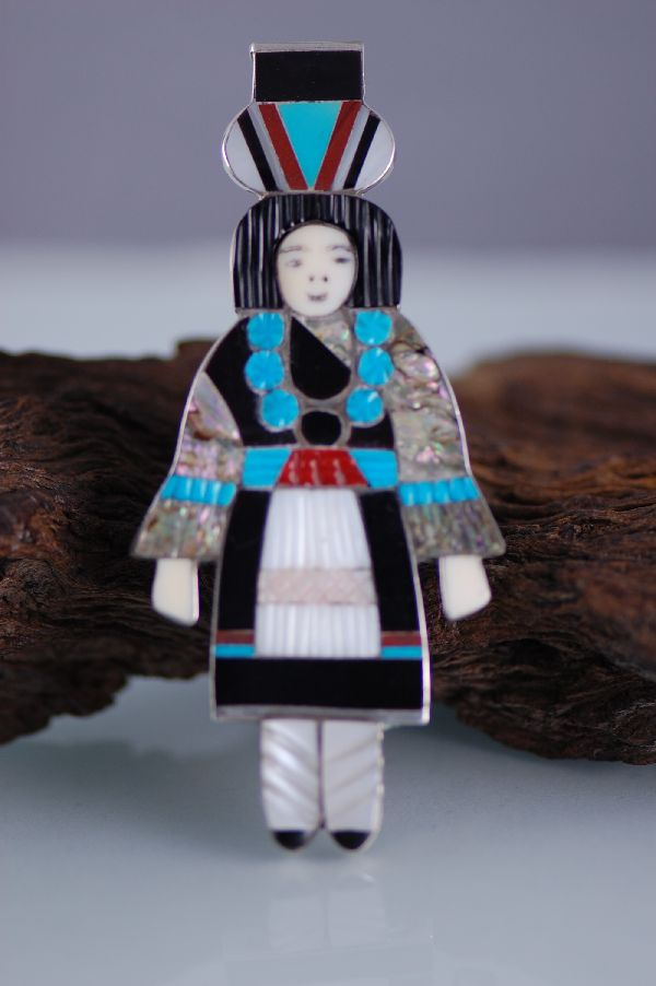 Zuni Exquisite Multi Inlaid Zuni Maiden Ring