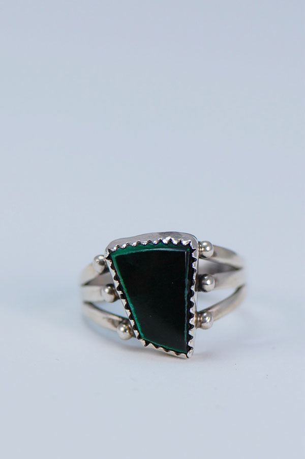 Navajo – Malachite and Sterling Silver Ring Size 8