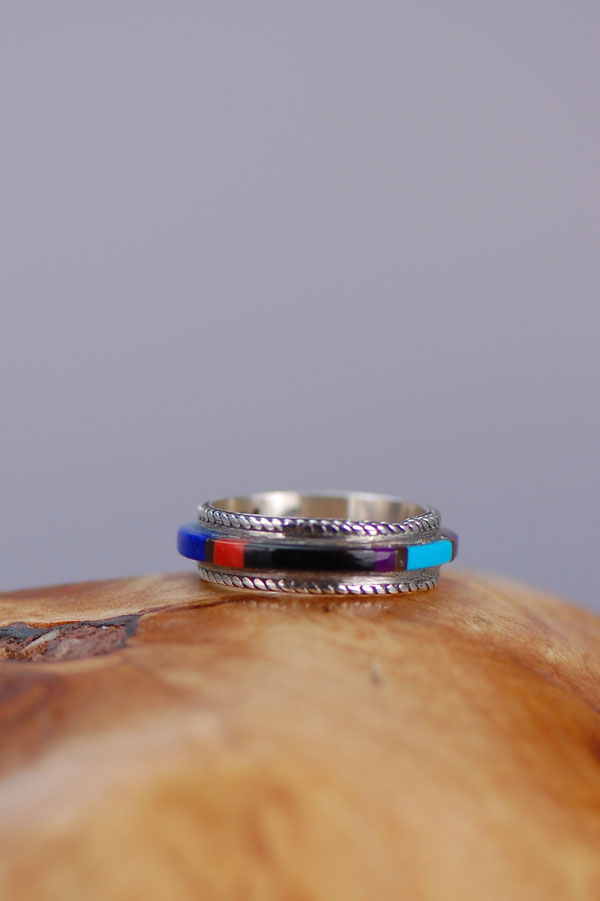Lapis Inlaid Native American Ring