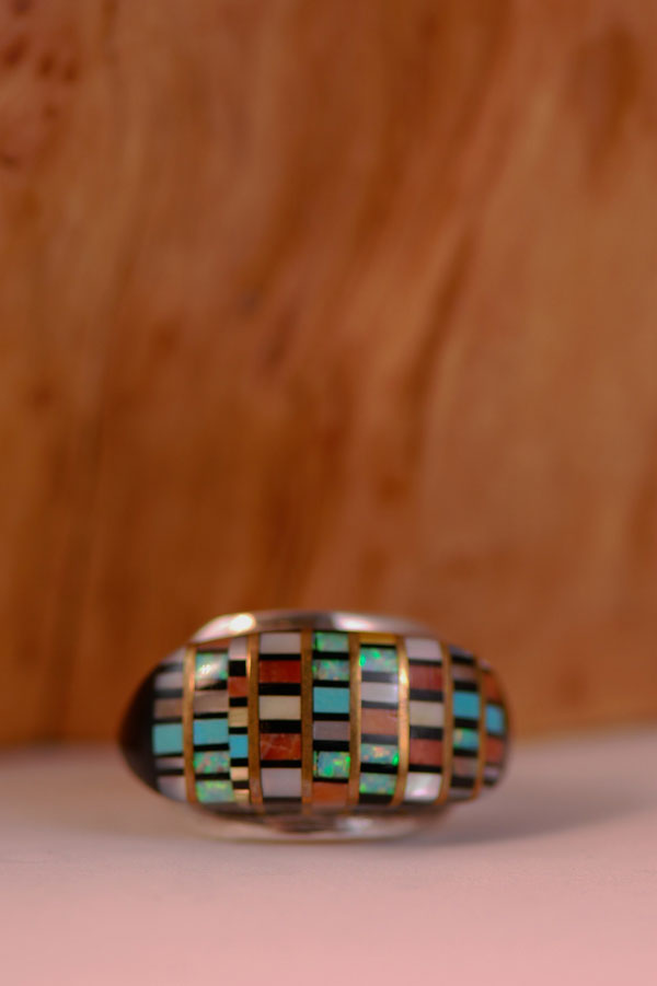 Exquisite Native American Inlaid Ring