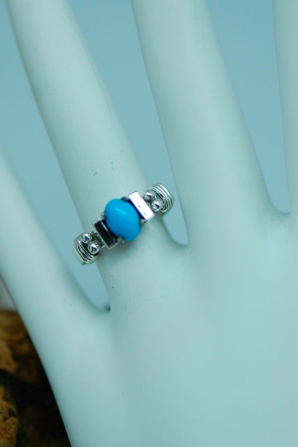 Les Baker – Sterling Silver Sleeping Beauty Turquoise Ring Size 8