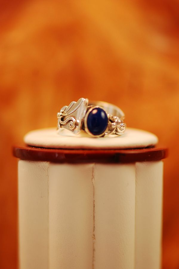 Lapis Sterling Silver Ring Size 6