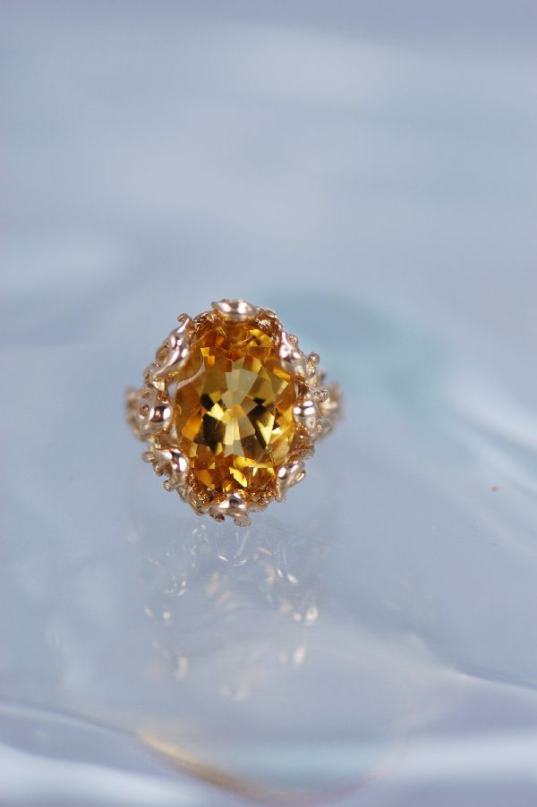 Cherokee – Ladies 14KT Gold Citrine Ring Size 5 1/2