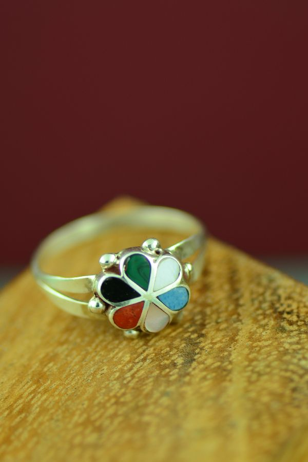 Zuni Inlaid Rings Size 9