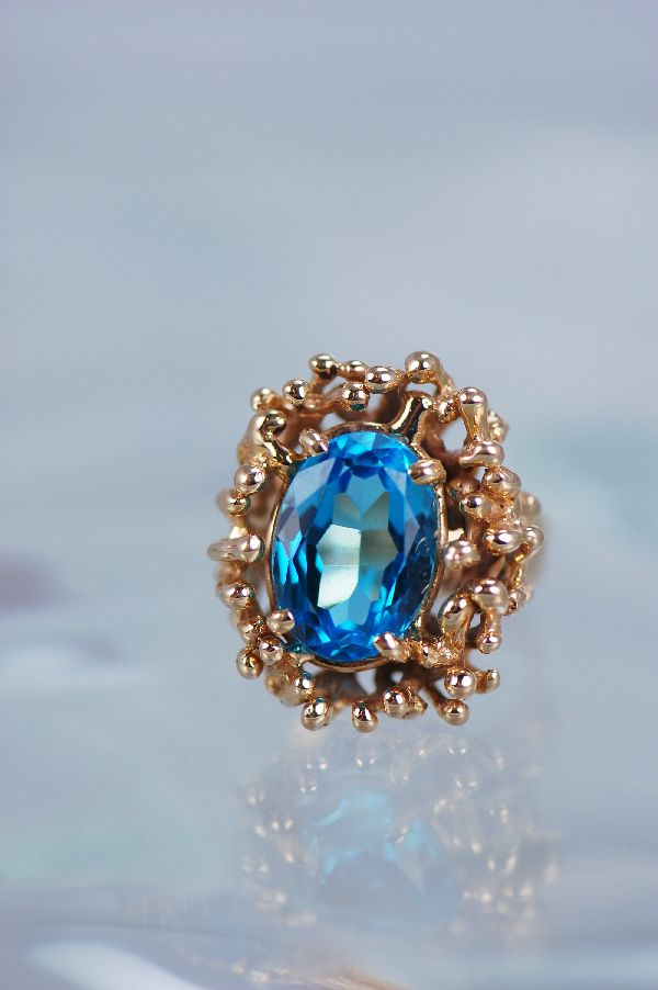 London blue Topaz Gem Ring
