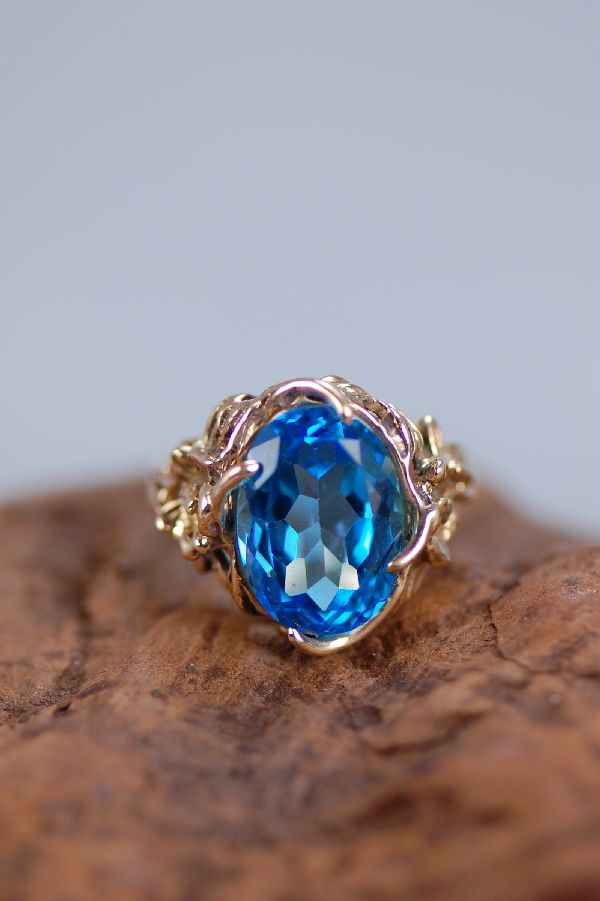 Cherokee Blue Topaz Ring