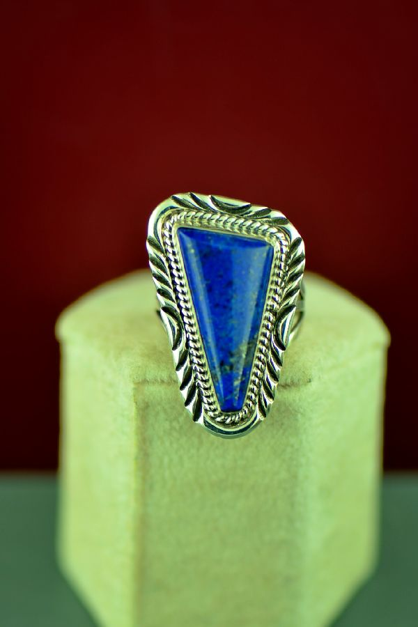 Native American Lapis Ring Size 7