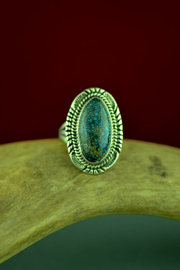 American Indian Ladies Bisbee Turquoise Ring