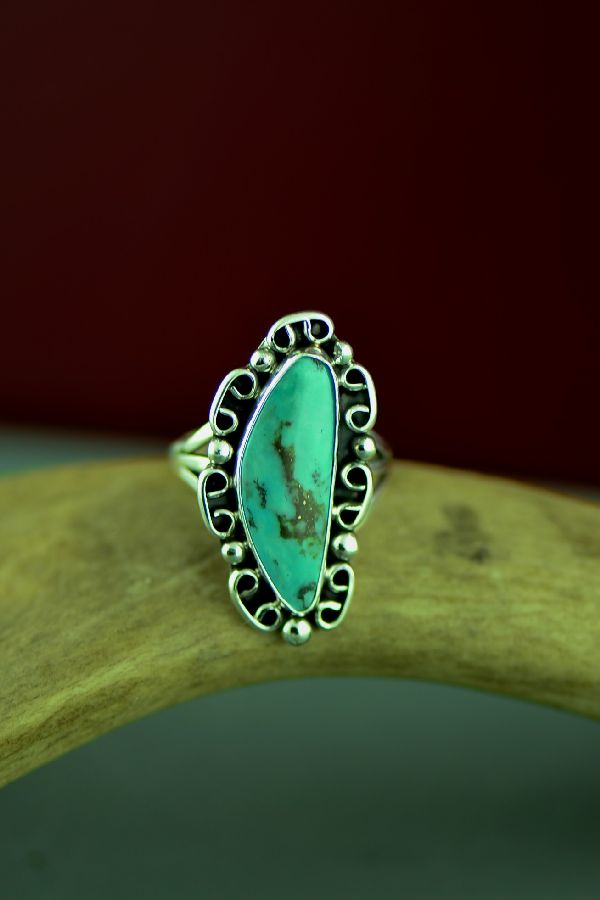 American Indian Fox Turquoise Rings