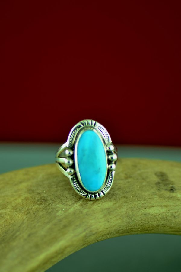 Will Denetdale American Indian Darling Darlene Turquoise Ring Size 5