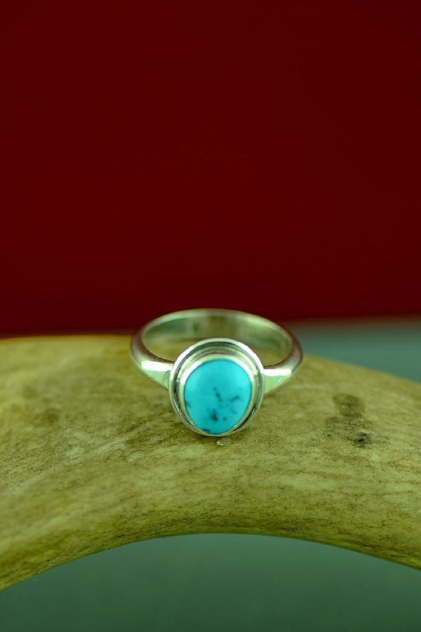 Will Denetdale Bisbee Turquoise Ring Size 7