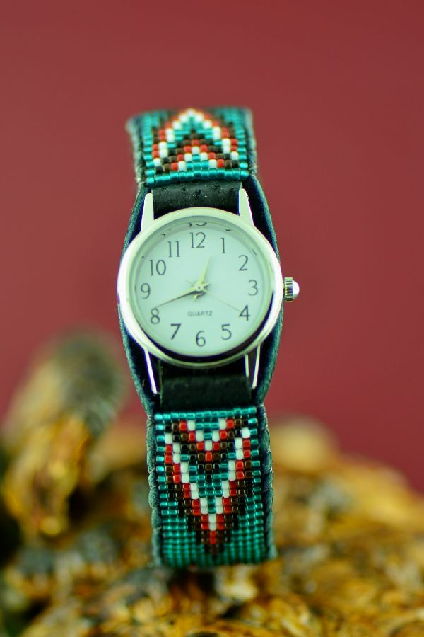 Colorful American Indian Beaded Watch