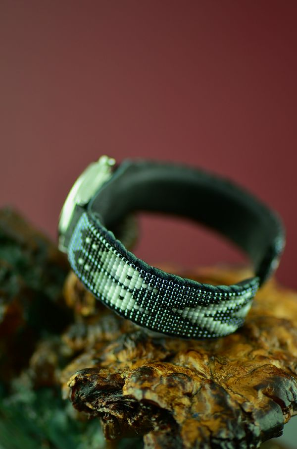 Quality Navajo Beaded Watch Bracelet by Daniel Yazzie