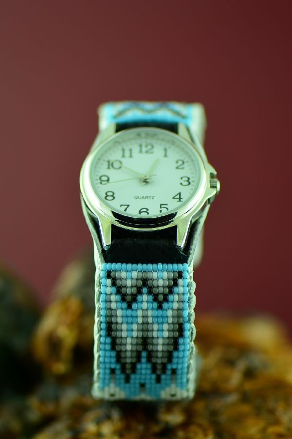 Navajo Beaded Watch Bracelet by Daniel Yazzie