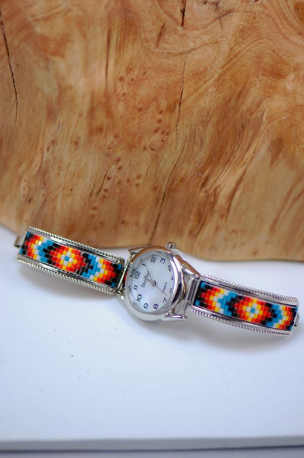 beaded watch a bands band to id how make