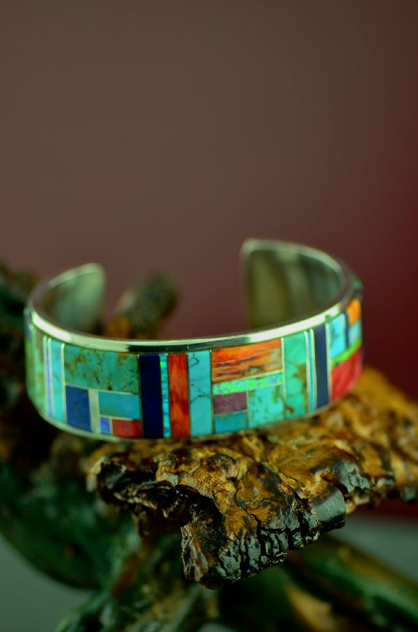 Native American High Quality Inlaid Bracelets