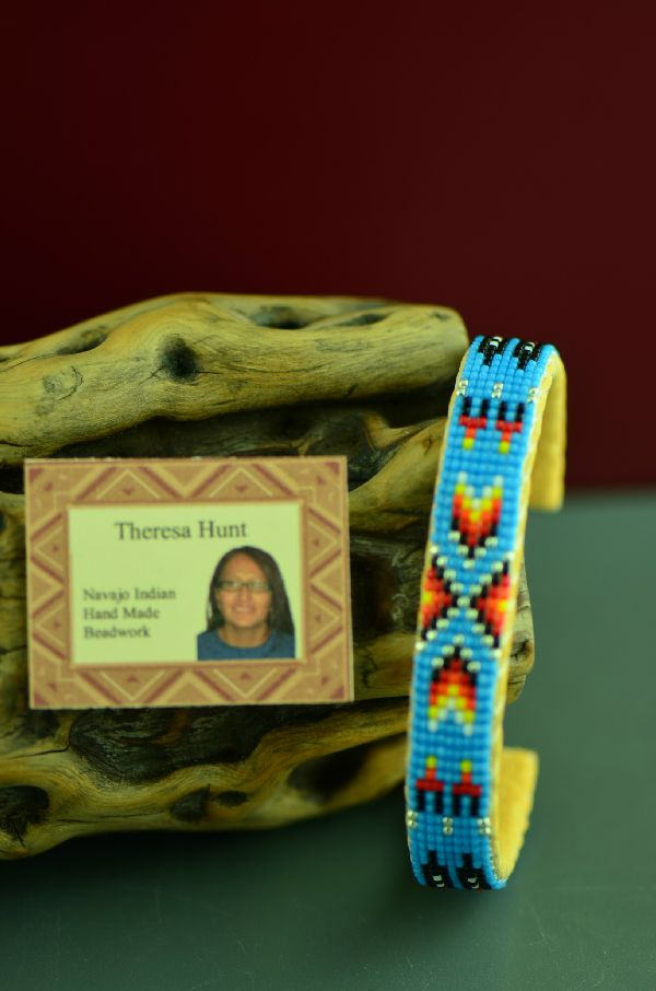 American Indian Prayer Feather Beaded Bracelet by Sharon Hunt