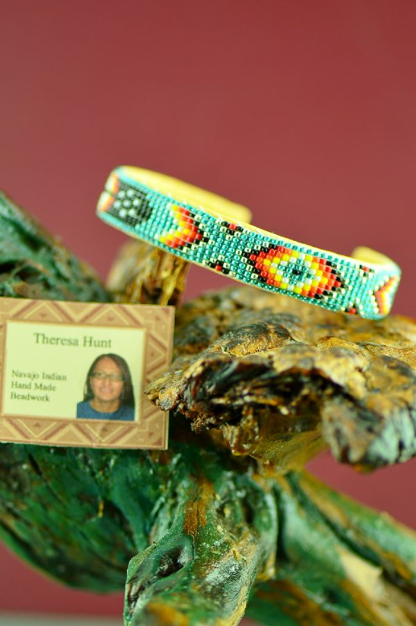 Native American Authentic Beaded Bracelet by Theresa Hunt