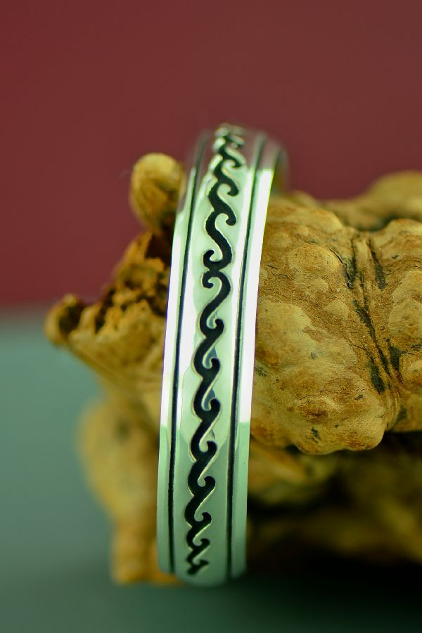 Authentic Native American Water Symbol Bracelet by Rosita Singer