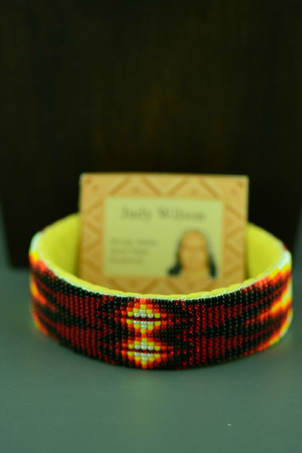 Navajo Traditional Beaded Bracelet by Judy Wilson