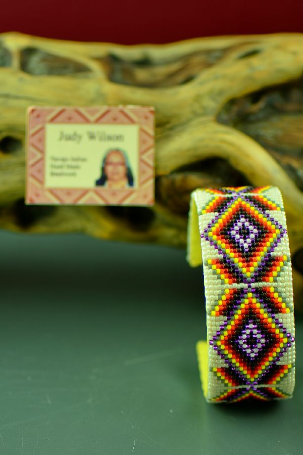 Traditional Navajo Beaded Bracelet by Judy Wilson