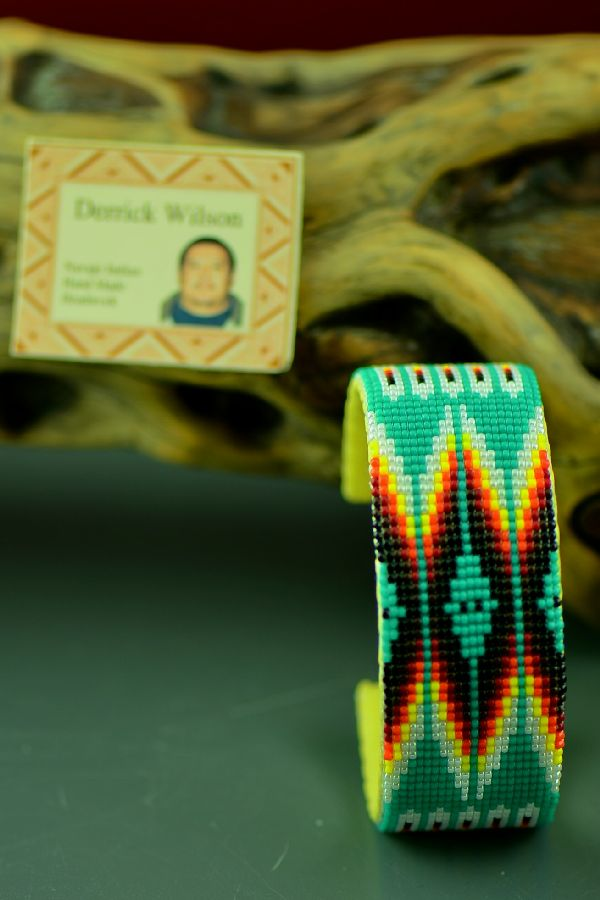Navajo Traditional Beaded Bracelet by Derrick Wilson