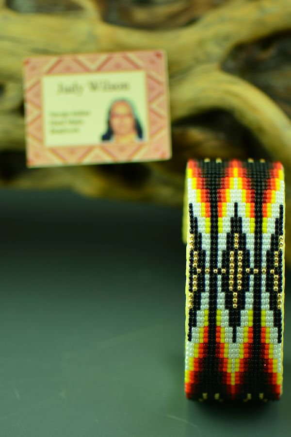 American Indian Beaded Bracelet by Judy Wilson