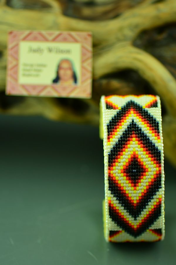 American Indian Traditional Beaded Bracelet by Judy Wilson