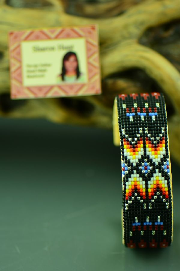 American Indian Beaded Prayer Feather Bracelet by Judy Wilson