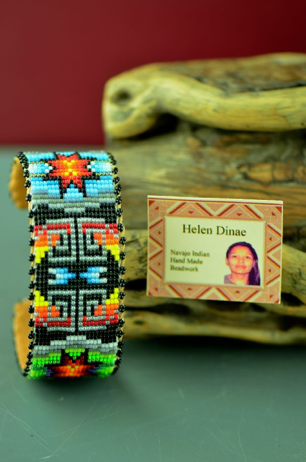 Navajo Traditional Beaded Bracelet by Helen Dinae