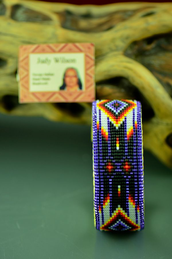 Beaded American Indian Bracelet by Judy Wilson