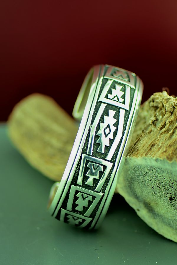 American Indian Mountain and Medicine Eye Bracelet by Rosita Singer