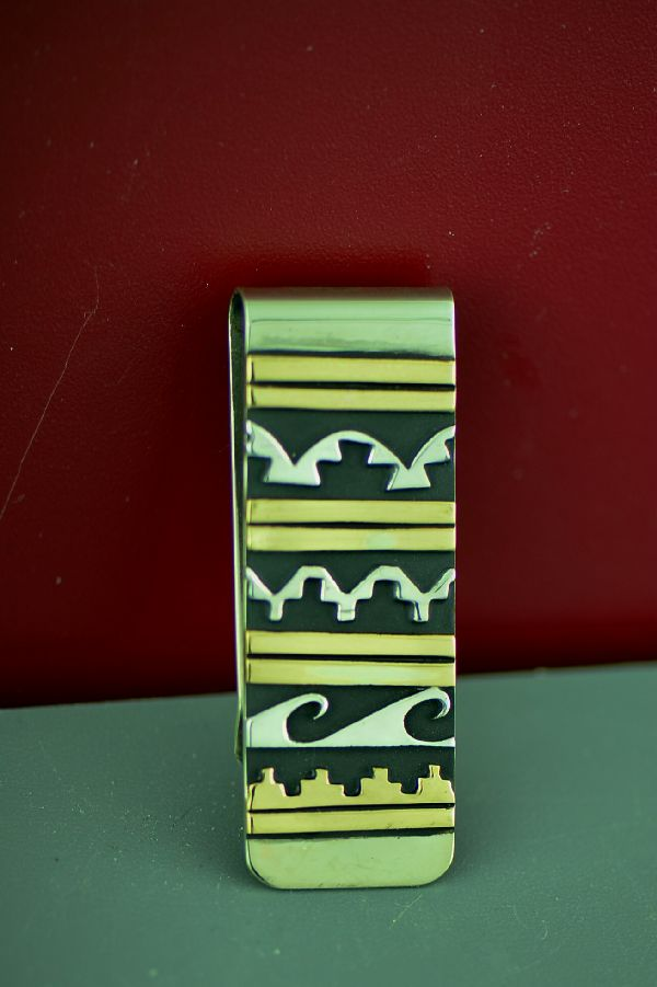 Rosita Singer Water and Mountain Money Clip