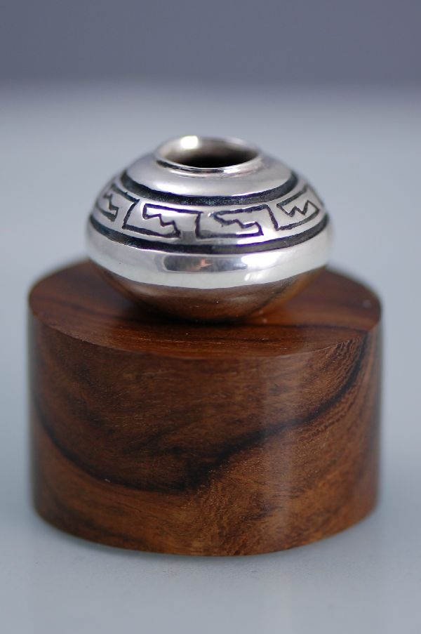 Fine Silver (.999) Pot with Native American Design by Carol Sues