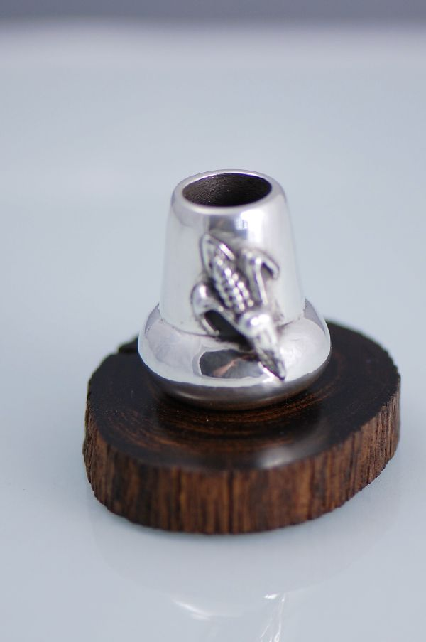 Fine Silver (.999) Corn Pot by Carol Sues