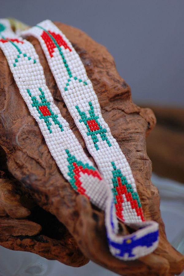 Navajo � Thunderbird Multi-Colored Seed Bead Hat Band