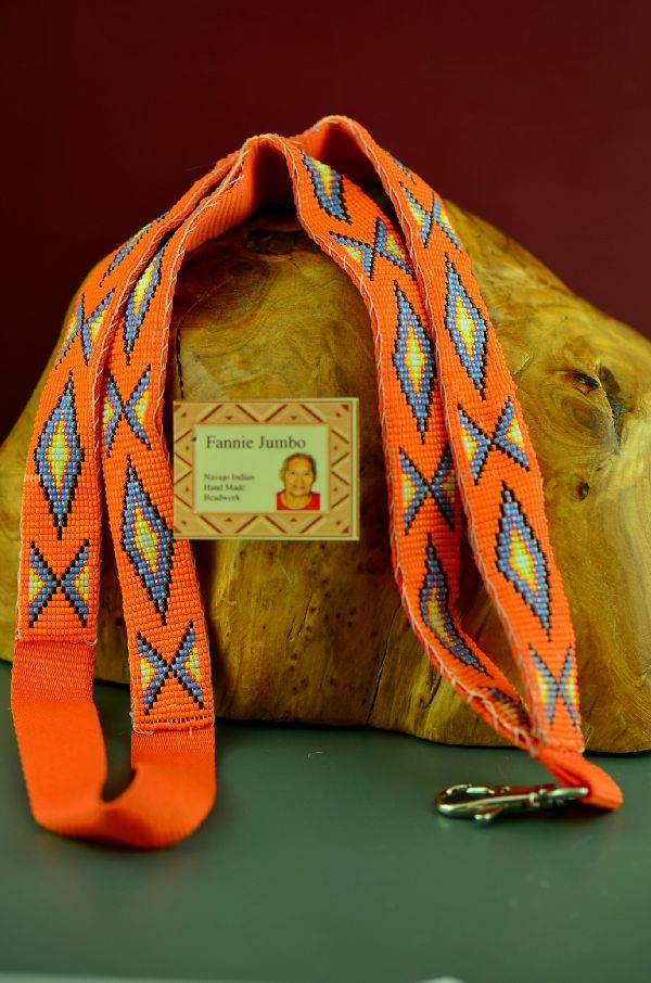 Fannie Jumbo Fully Beaded Navajo Lanyard