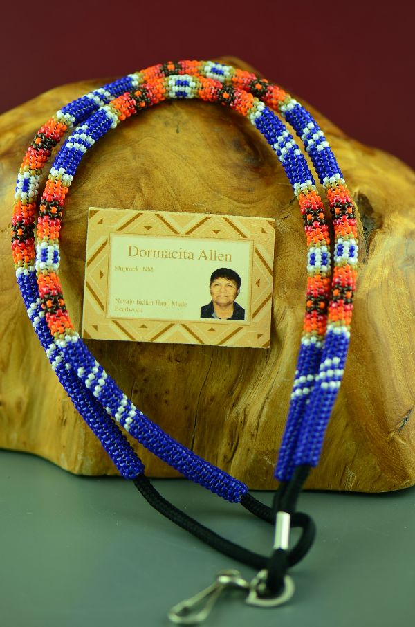 Navajo Multi-Colored Beaded Lanyard by Dormacita Allen