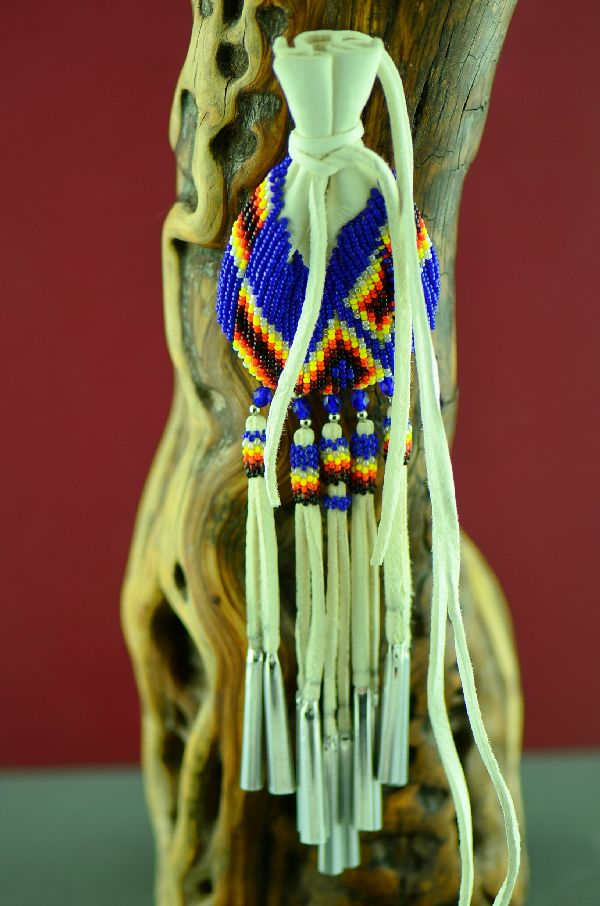 High Quality Beaded Native American Medicine Pouch