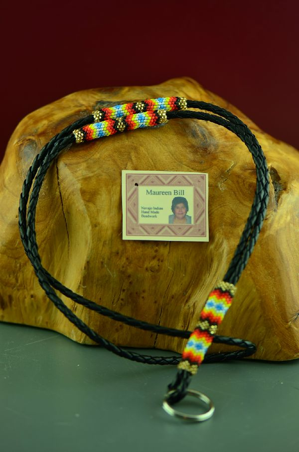 Beaded American Indian Lanyard by Maureen Bill