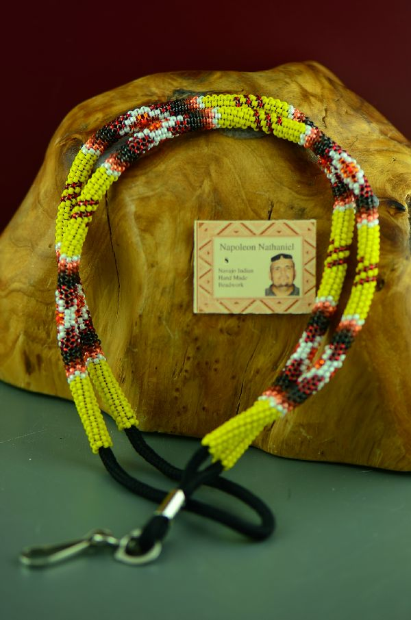 Napoleon Nathaniel American Indian Beaded Lanyard