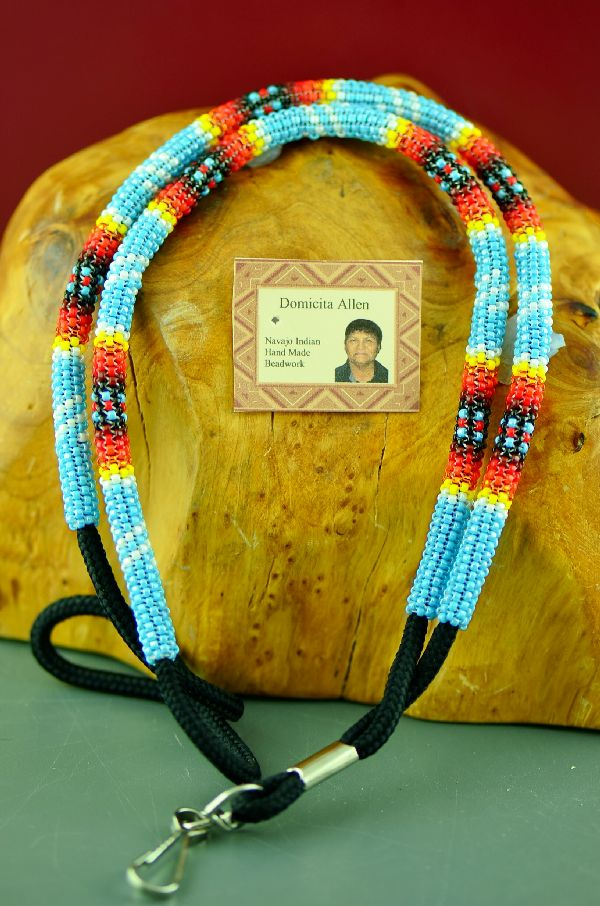 Navajo Multi-Colored Beaded Lanyard by Domacita Allen