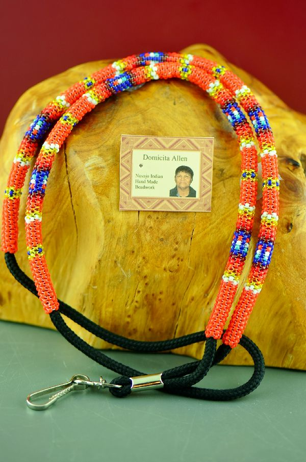 American Indian Beaded Lanyard by Domacita Allen