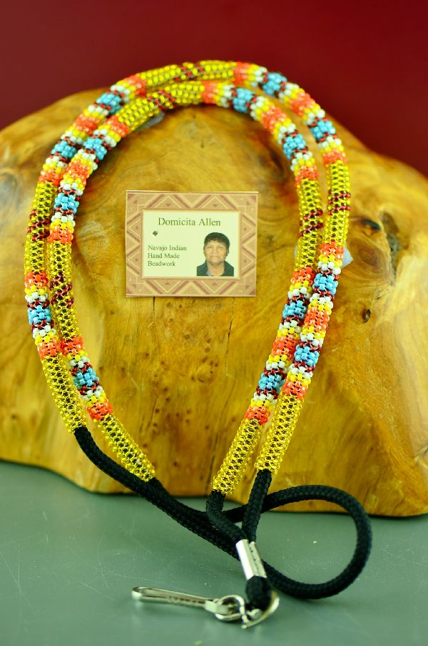 Authentic American Indian Beaded Lanyard by Domacita Allen