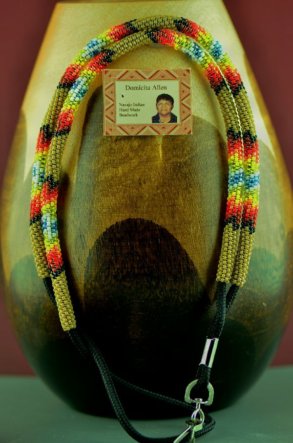 Beaded American Indian Lanyard by Domacita Allen