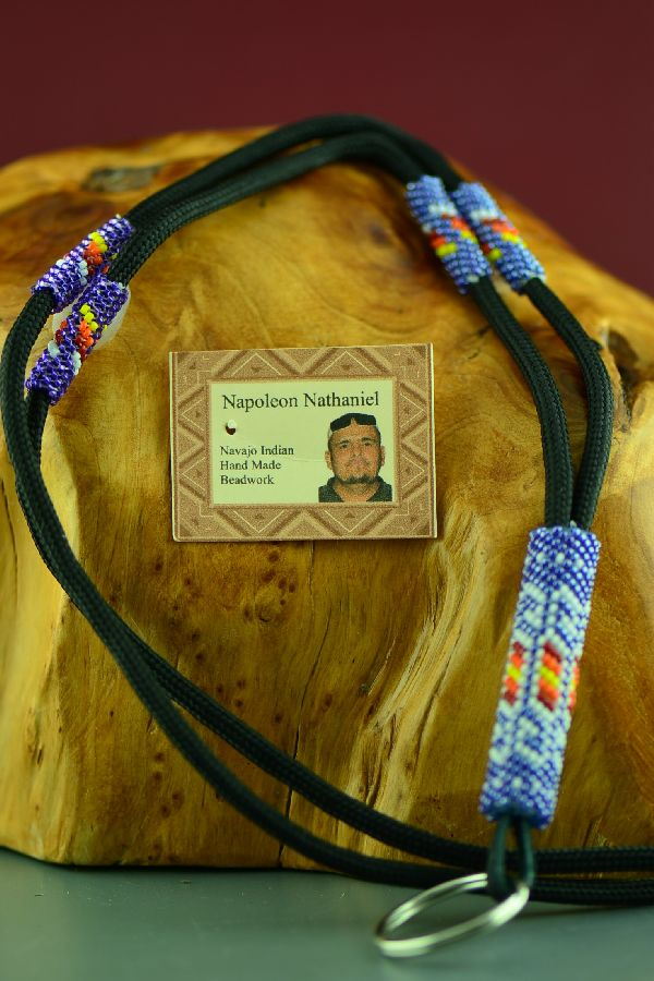 Navajo Beaded Native American Lanyard by Napoleon Nathaniel